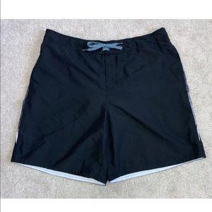 Nike Black White Swim Trunks Board Short w/Pockets